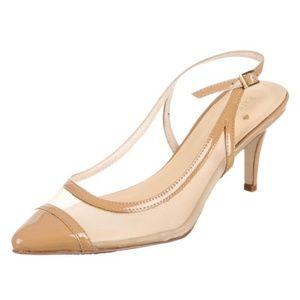 Kate Spade Mesh Pointed Toe Slingback Heels 9m